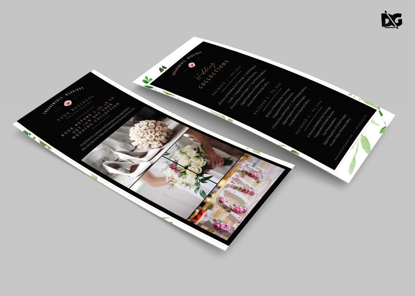 Free Rack Card Mockup Wedding Invitation Rack Card Psd Mockup Download Free