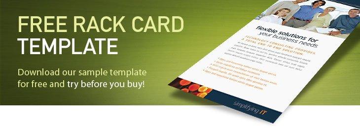 Free Rack Card Template Free Rack Card Template