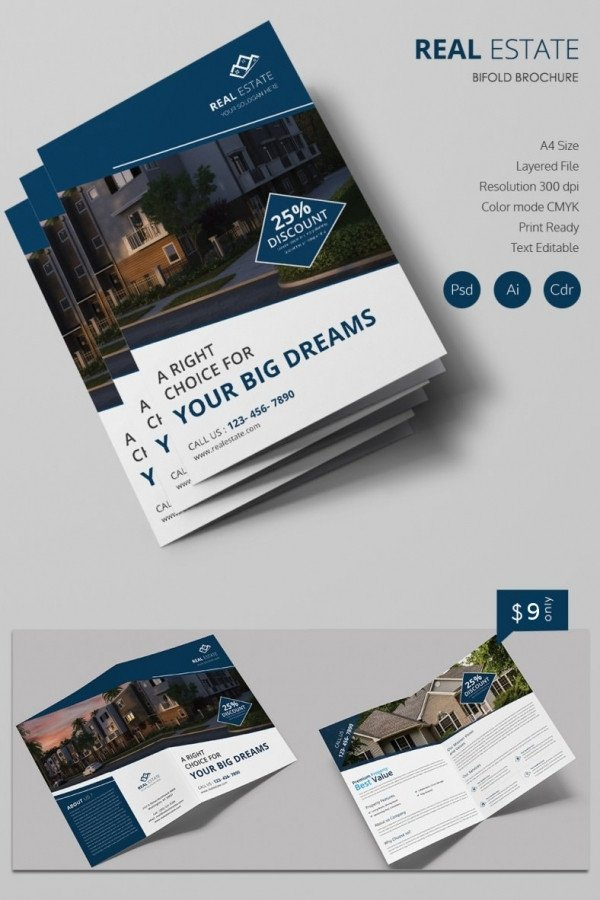 Free Real Estate Brochure Templates 16 Real Estate Brochures – Free Psd Eps Word Pdf