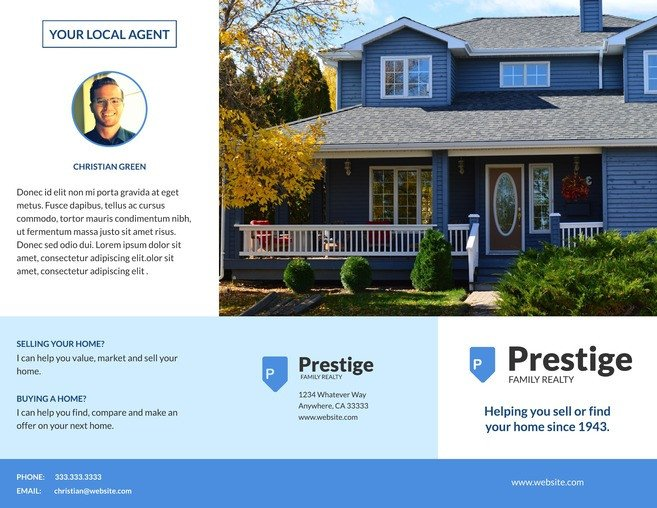 Free Real Estate Brochure Templates 3 Free Real Estate Brochure Templates & Examples