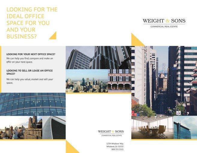 Free Real Estate Brochure Templates Free Tri Fold Brochure Templates & Examples [15 Free