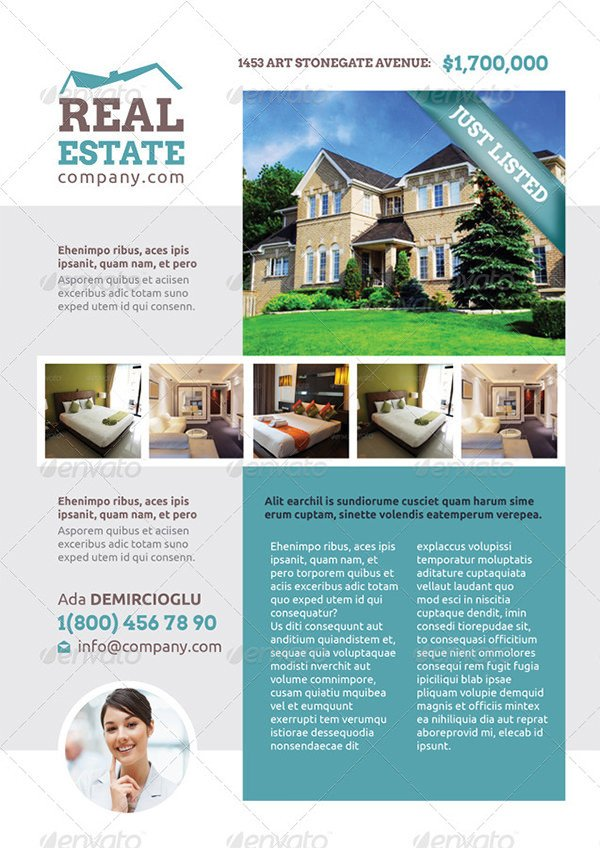 Free Real Estate Brochure Templates Real Estate Flyer Template – 52 Free Psd Ai Vector Eps