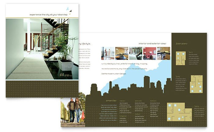Free Real Estate Brochure Templates Urban Real Estate Brochure Template Design