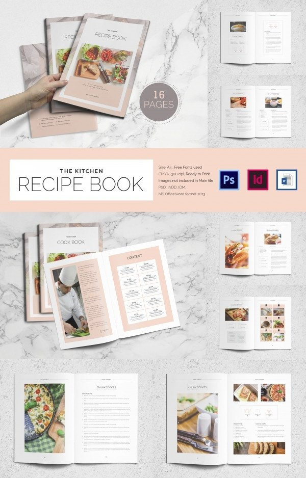 Free Recipe Book Template 40 Cookbook Templates Psd Ai Vector Eps