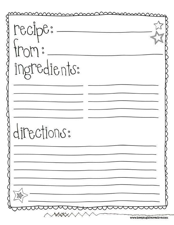Free Recipe Book Template Best 25 Cookbook Template Ideas On Pinterest