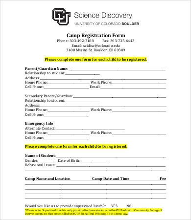 Free Registration forms Template 10 Printable Registration form Templates Pdf Doc