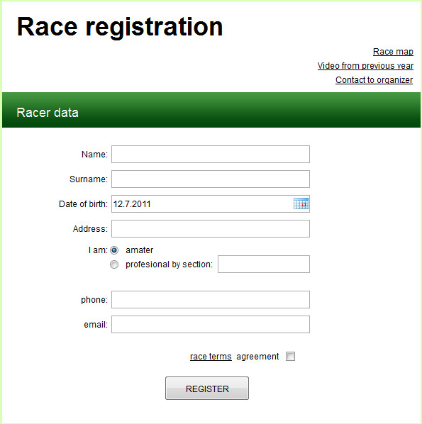 Free Registration forms Template Registration form Template Free Download