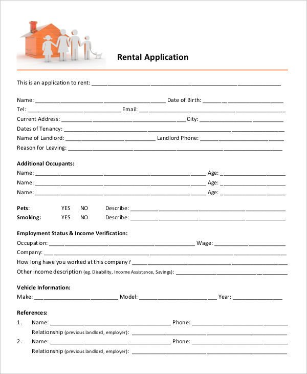 Free Rental Application form Template 17 Printable Rental Application Templates