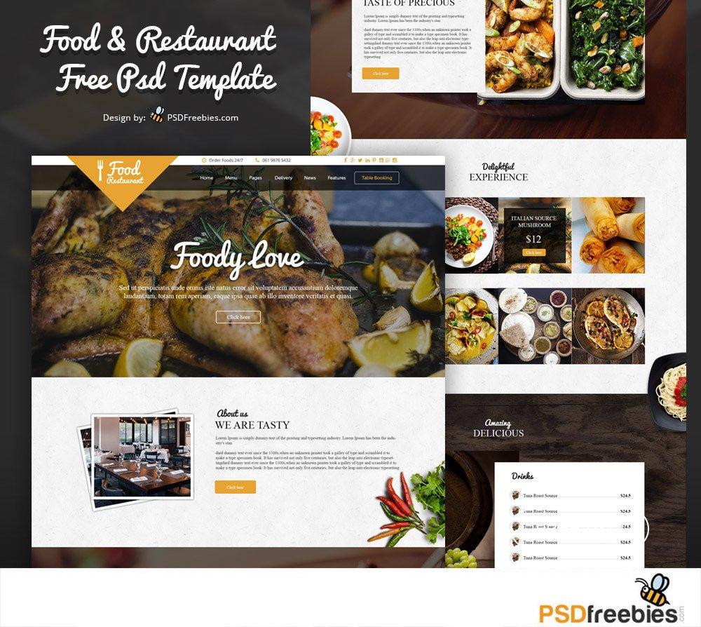 Free Restaurant Website Templates 18 Restaurant Print & Web Free Psd Templates