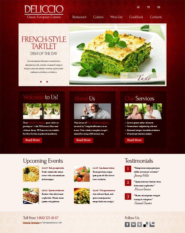 Free Restaurant Website Templates 25 Restaurant & Cafe HTML Website Templates Free & Premium