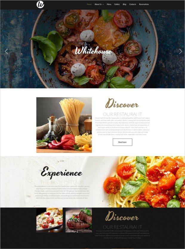 Free Restaurant Website Templates 34 Best Premium Restaurant Website Templates