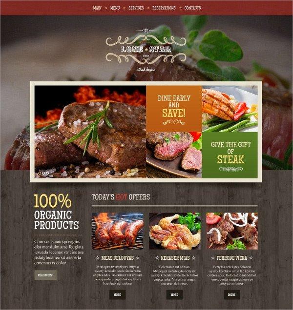 Free Restaurant Website Templates 40 Restaurant Website themes & Templates