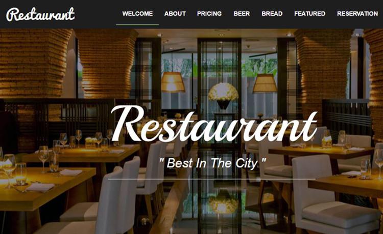 Free Restaurant Website Templates Bootstrap Food Restaurant Website Template Free Download