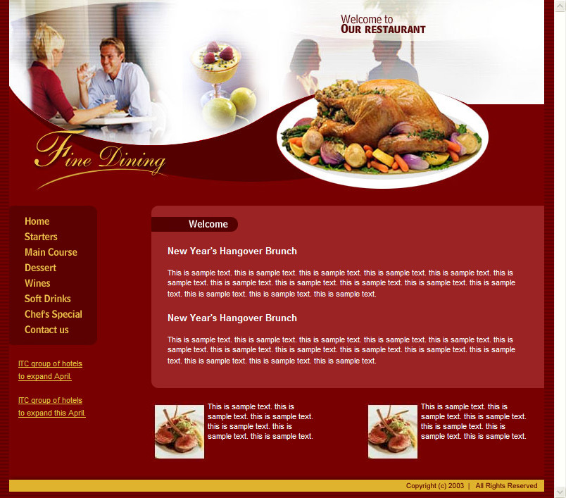 Free Restaurant Website Templates Download Free HTML Templates