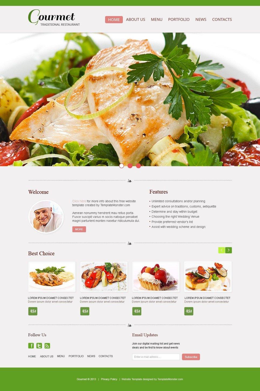 Free Restaurant Website Templates Free Website Template Restaurant