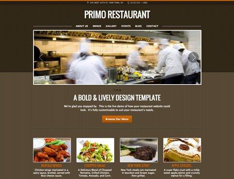 Free Restaurant Website Templates Restaurant Website Design Templates