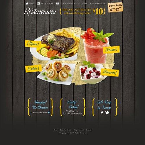 Free Restaurant Website Templates Restaurant Website Template Design
