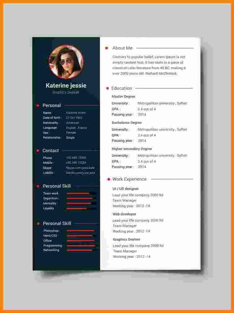 Free Resume Template Pdf 10 Cv format Template Pdf