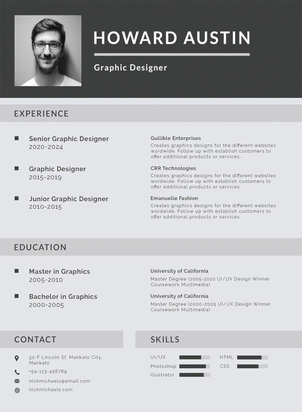 Free Resume Template Pdf 12 formal Curriculum Vitae Free Sample Example format