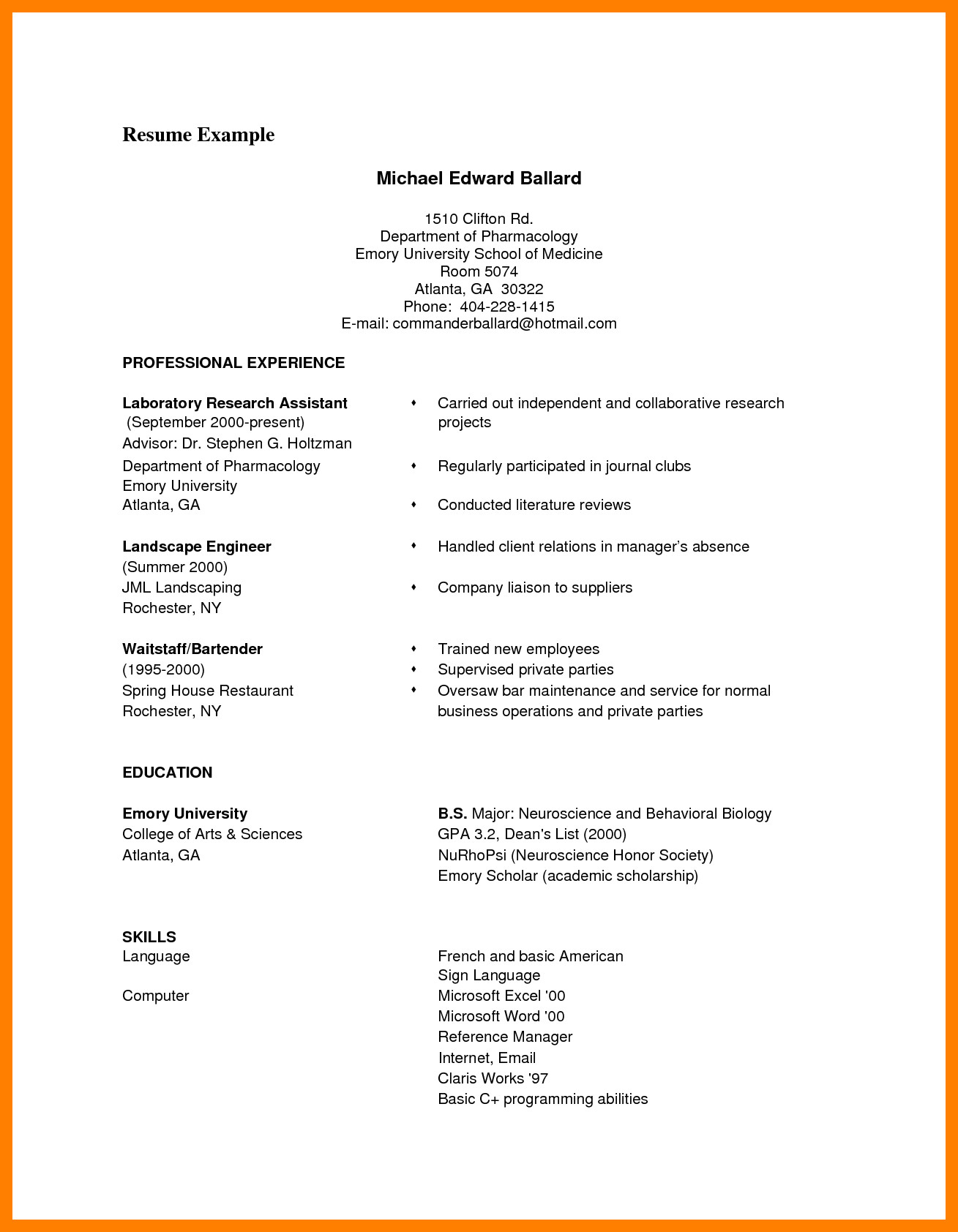 Free Resume Template Pdf 9 Cv format Samples Pdf