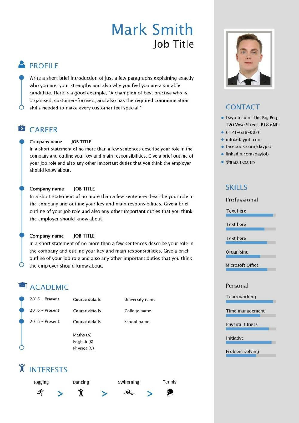 Free Resume Template Pdf Free Able Cv Template Examples Career Advice How