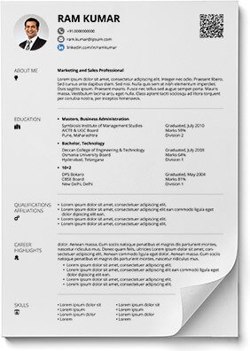 Free Resume Template Pdf Free Lean and Cool Resume formats In Pdf