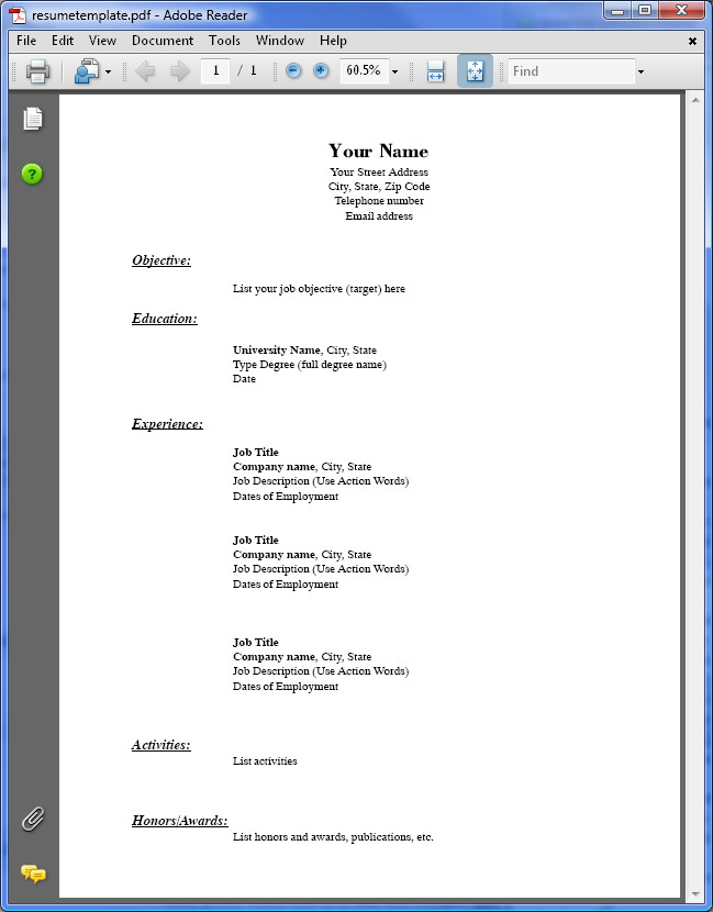 Free Resume Template Pdf Pdf to Word Conversion Samples Easyconverter Sdk