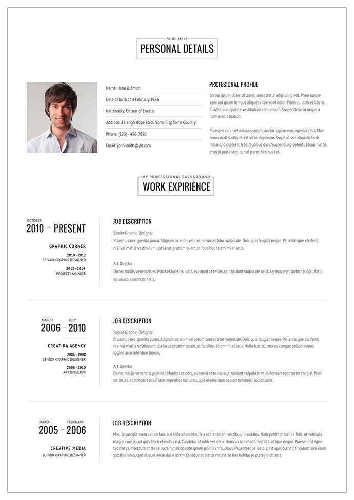 Free Resume Templates for Pages 20 Intriguing Line Resume Templates