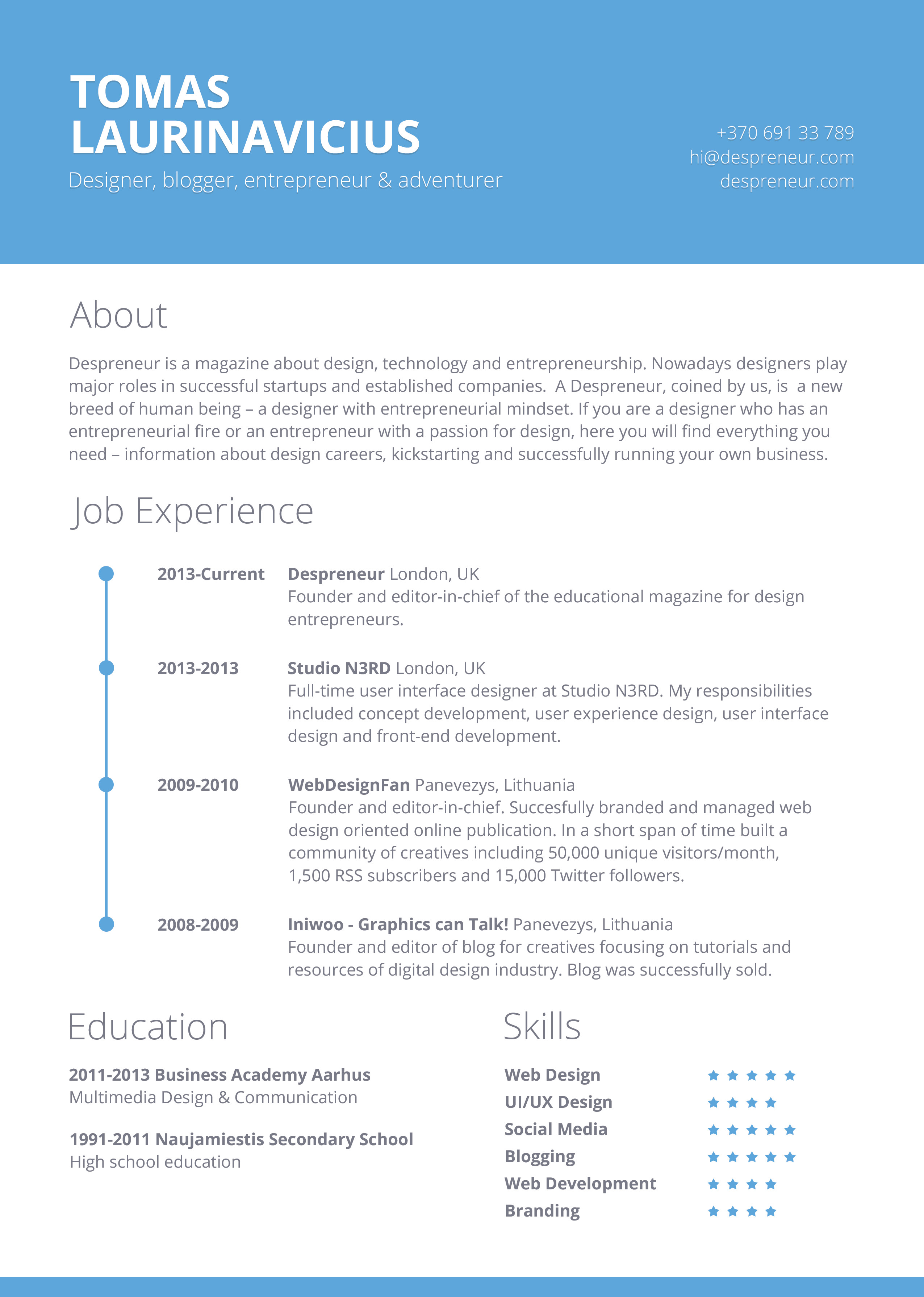 Free Resume Templates for Pages 40 Resume Template Designs