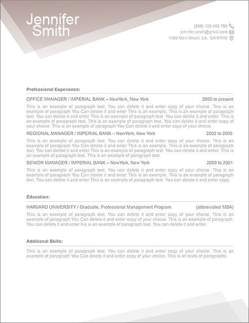 Free Resume Templates for Pages Free Resume Template Premium Line Of Resume