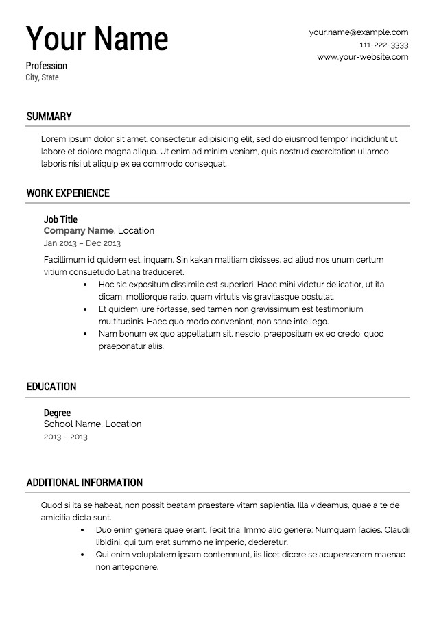 Free Resume Templates for Pages Want to Download Resume Samples