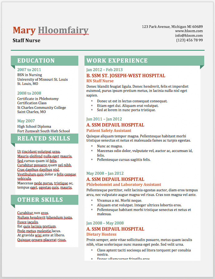 Free Resume Templates Microsoft 19 Free Resume Templates You Can Customize In Microsoft Word