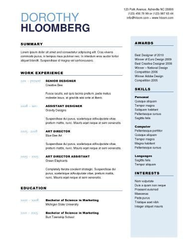 Free Resume Templates Microsoft 50 Free Microsoft Word Resume Templates for Download