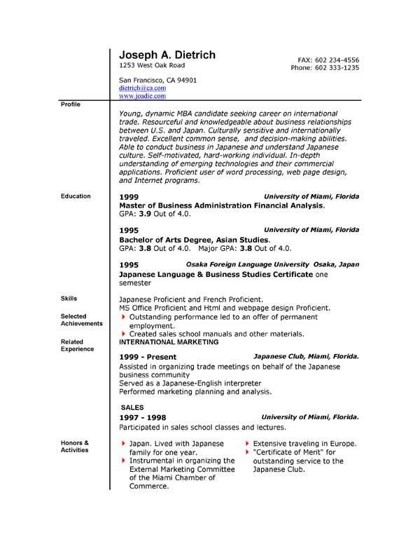 Free Resume Templates Microsoft Resume Templates Microsoft Word