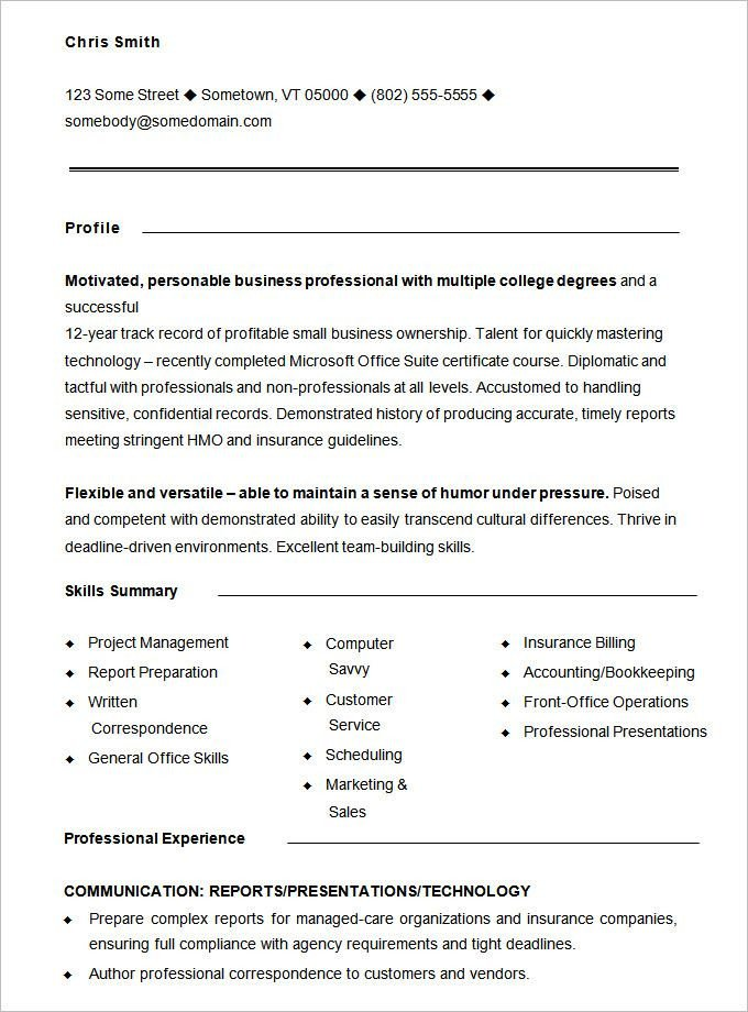 Free Resume Templates Pdf 10 Functional Resume Templates