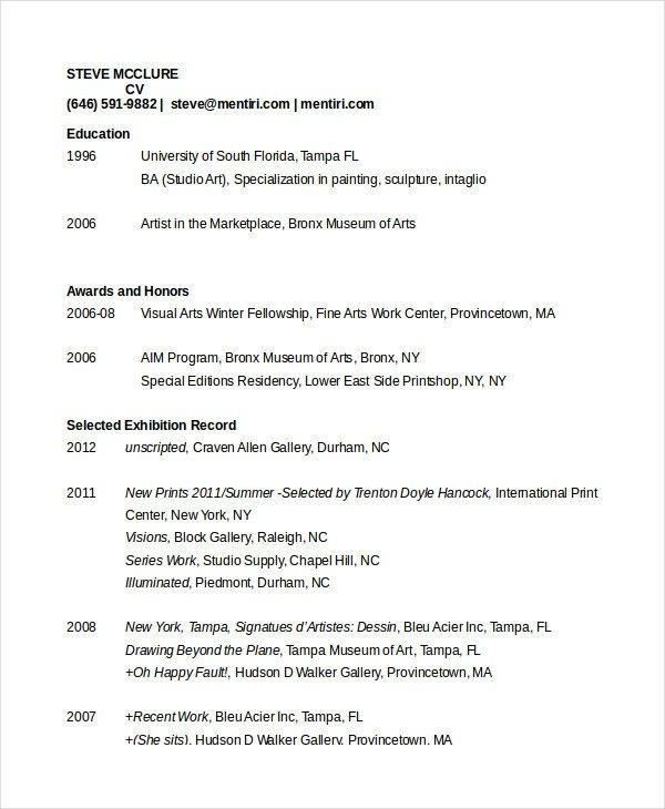 Free Resume Templates Pdf 35 Sample Cv Templates Pdf Doc