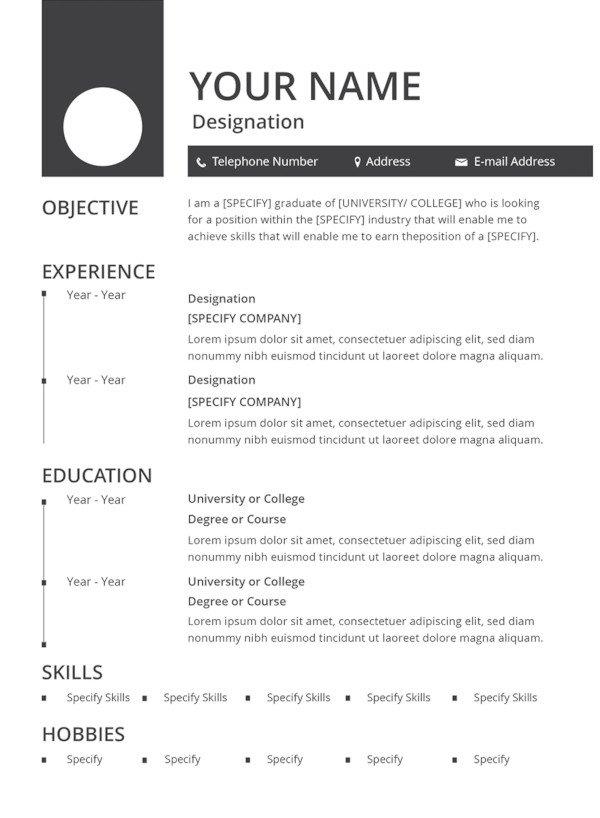 Free Resume Templates Pdf 49 Best Resume formats Pdf Doc