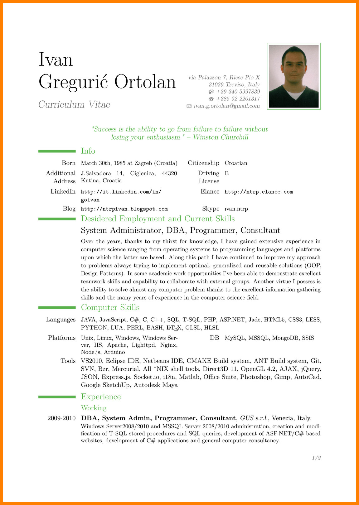 Free Resume Templates Pdf 9 Cv In English Example Doc