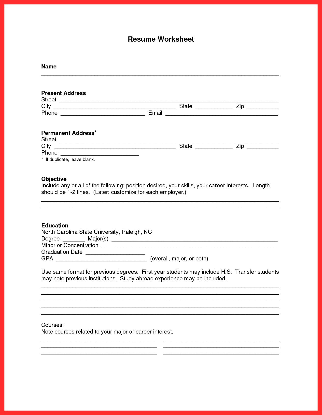 Free Resume Templates Pdf Apa Resume Template