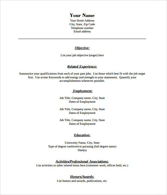 Free Resume Templates Pdf Free Blank Printable Resume forms Webcsulb Web Fc2