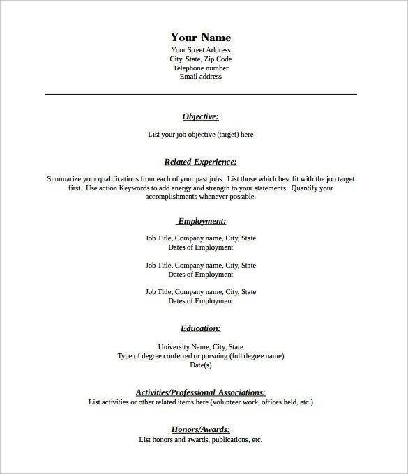 Free Resume Templates Pdf Free Blank Printable Resume forms Webcsulb Web Fc2