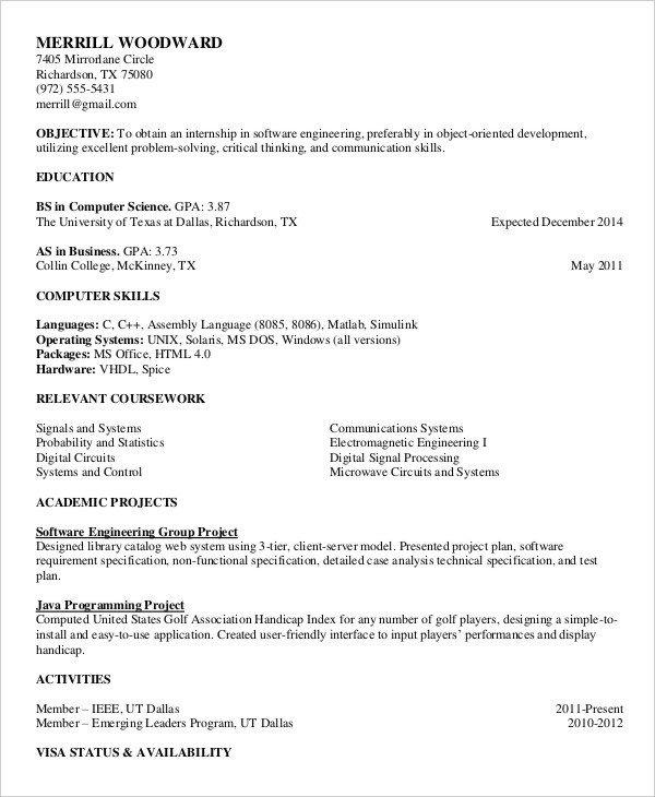 Free Resume Templates Pdf Free Printable Resume Examples Image – 20 Free