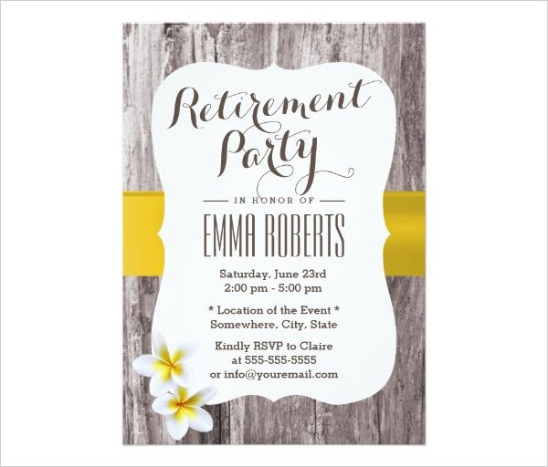 Free Retirement Invitation Templates 36 Retirement Party Invitation Templates Psd Ai Word