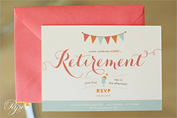 Free Retirement Invitation Templates 40 Free Party Invitation Templates Psd Ai Vector Eps