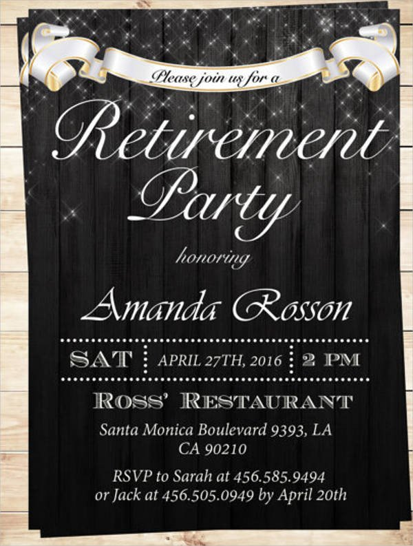 Free Retirement Invitation Templates 6 Retirement Invitation Templates Free Download