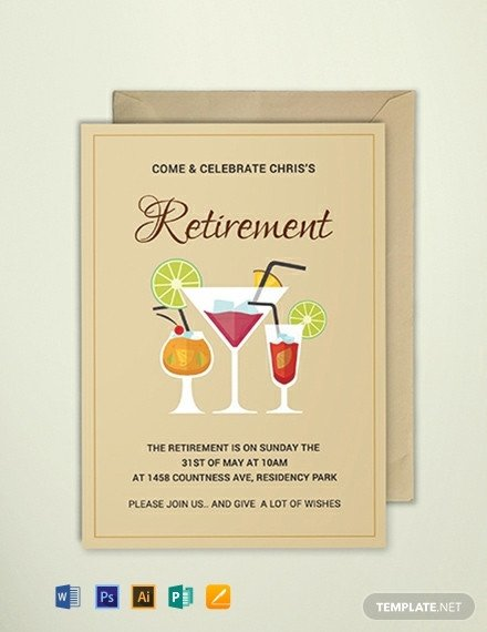 Free Retirement Invitation Templates Free Printable Retirement Party Invitation Template