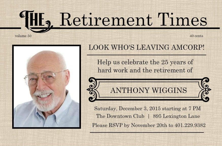 Free Retirement Invitation Templates Retirement Flyer Template Free