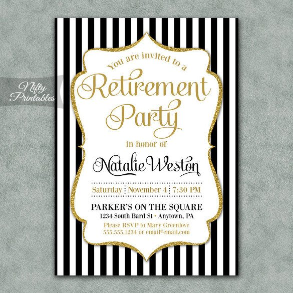 Free Retirement Invitation Templates Retirement Party Invitation Template – 36 Free Psd format