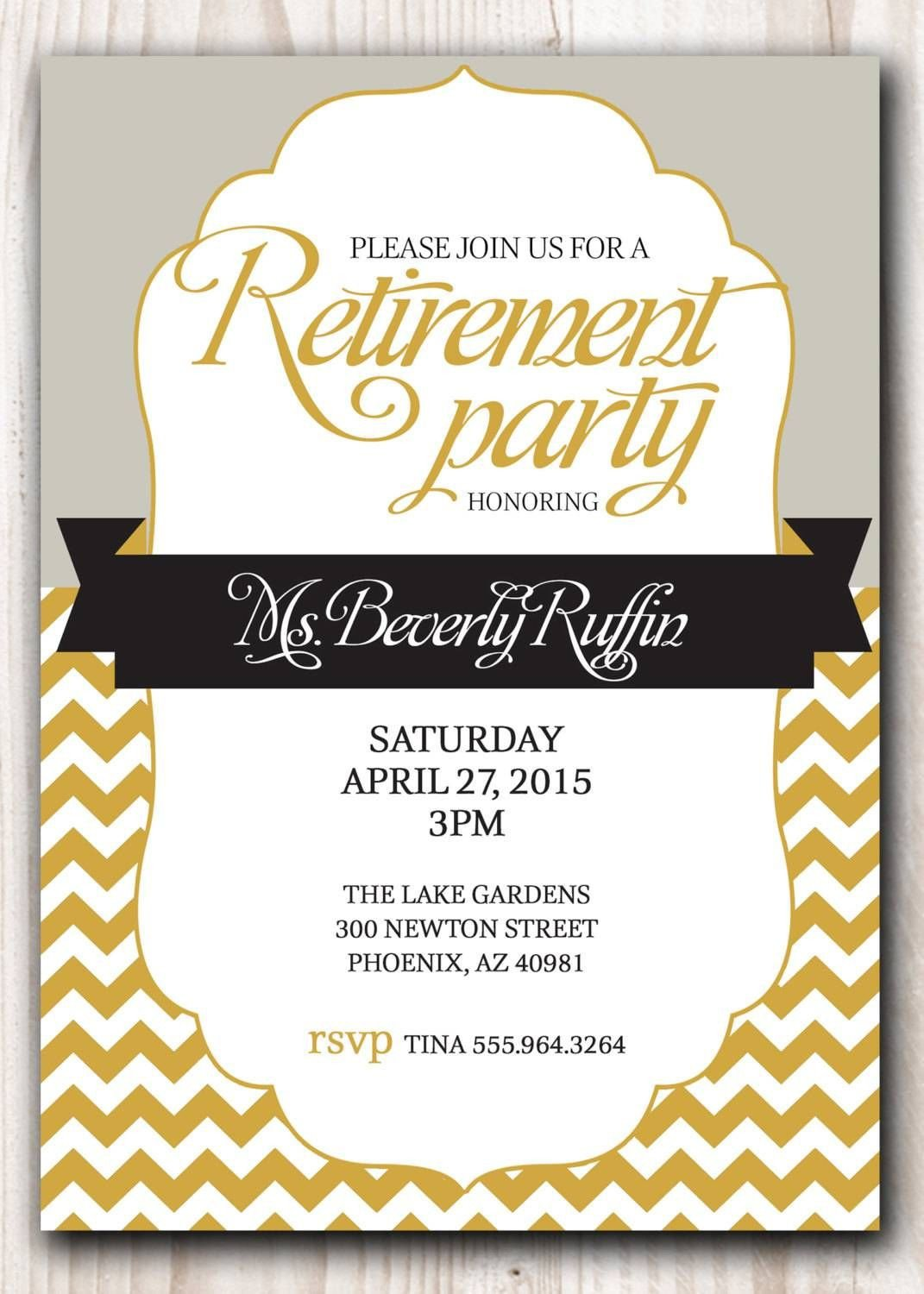 Free Retirement Invitation Templates Retirement Party Invitation Template Microsoft