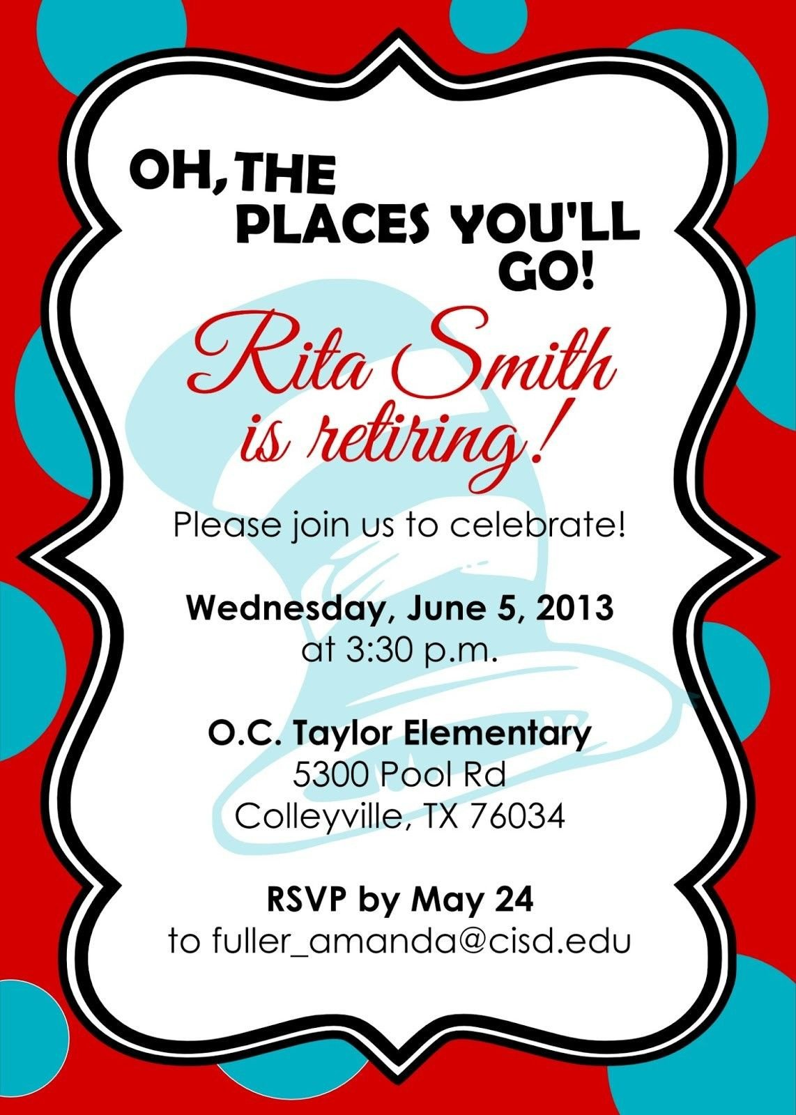 Free Retirement Invitation Templates Retirement Party Invitations Free Templates